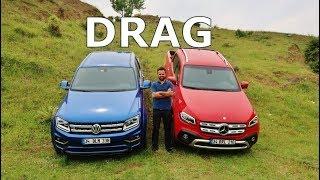 DRAG - Mercedes X-Class V6 vs VW Amarok V6