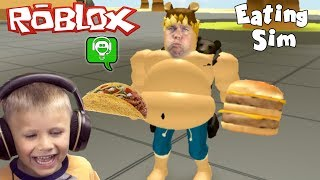 Roblox Eat Simulator HOW MUCH CAN WE EAT