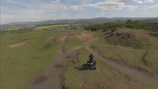 quad bike up the bing