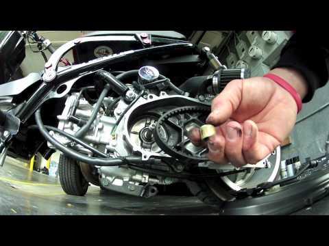 Honda Ruckus Variator Roller weight install