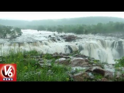 Heavy Rains In Jayashankar Bhupalpally: People Rush At Bogatha Waterfalls | V6 News