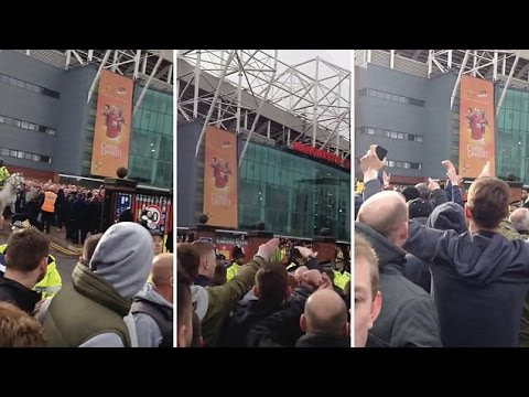 DISGUSTING! Man City Fans Mock Munich Air Disaster With Chant Outside Old Trafford After Derby