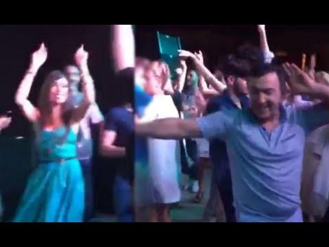 Leyla Əliyev, Emin Ağalarov Ləzginka oynayır
