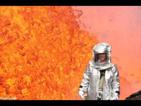超絶!?燃え盛る溶岩を間近で撮影した大迫力映像