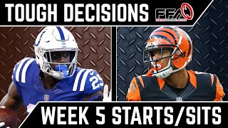 Toughest Start/Sit Decisions - Week 5 - 2019 Fantasy Football Advice