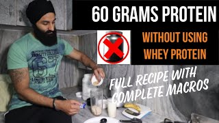 60 GRAMS PROTEIN MUSCLE BUILDING SMOOTHIE | Post workout High Protein shake Recipe