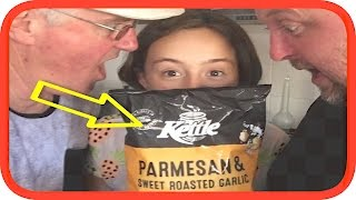 Kettle Parmesan & Sweet Roasted Garlic Potato Chips Review | Snackbrands