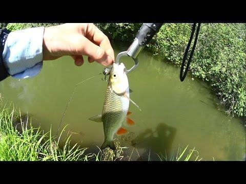 ловля окуня на дроп шот на малых реках видео