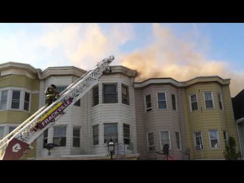 Raw video: Multi-alarm fire damages 8 Pa. rowhomes