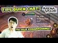 Cara Membuat ITU SAJA KEMAMPUANMU?! Tips Quick Chat! dan Buat Tournament Sendiri!