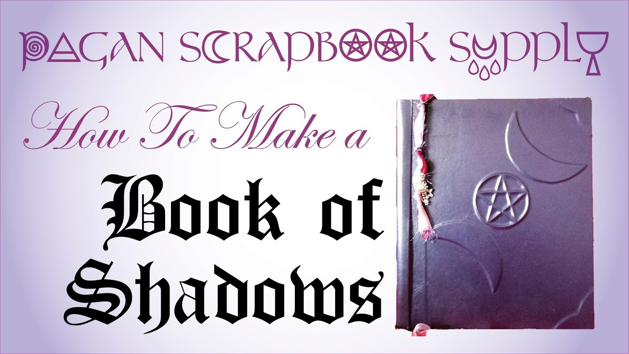 Book Of Shadows Cover Diy ~ Pagan scrapbook supply how to make a book of shadows