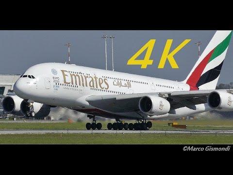 [4K] Plane Spotting 1 Hour + @ Rome Fiumicino Airport