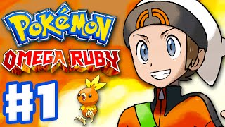 Pokemon Omega Ruby and Alpha Sapphire - Gameplay Walkthrough Part 1 - Intro and Starter Evolutions