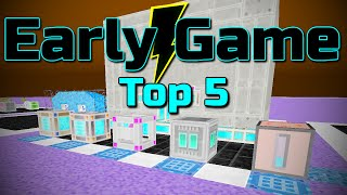 Top 5 Early Power Storage ~ Modded Minecraft Early Game Tips!