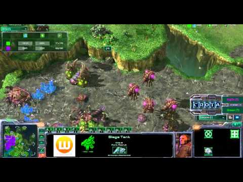 StarCraft 2 - SC237 - ArgOs (Z) vs Green (T) on Lost Temple Part 1 Video