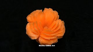 Carrot | Friendship Orange Rose | Advanced 45 | Mutita Edible Art Of Fruit And Vegetable Carving