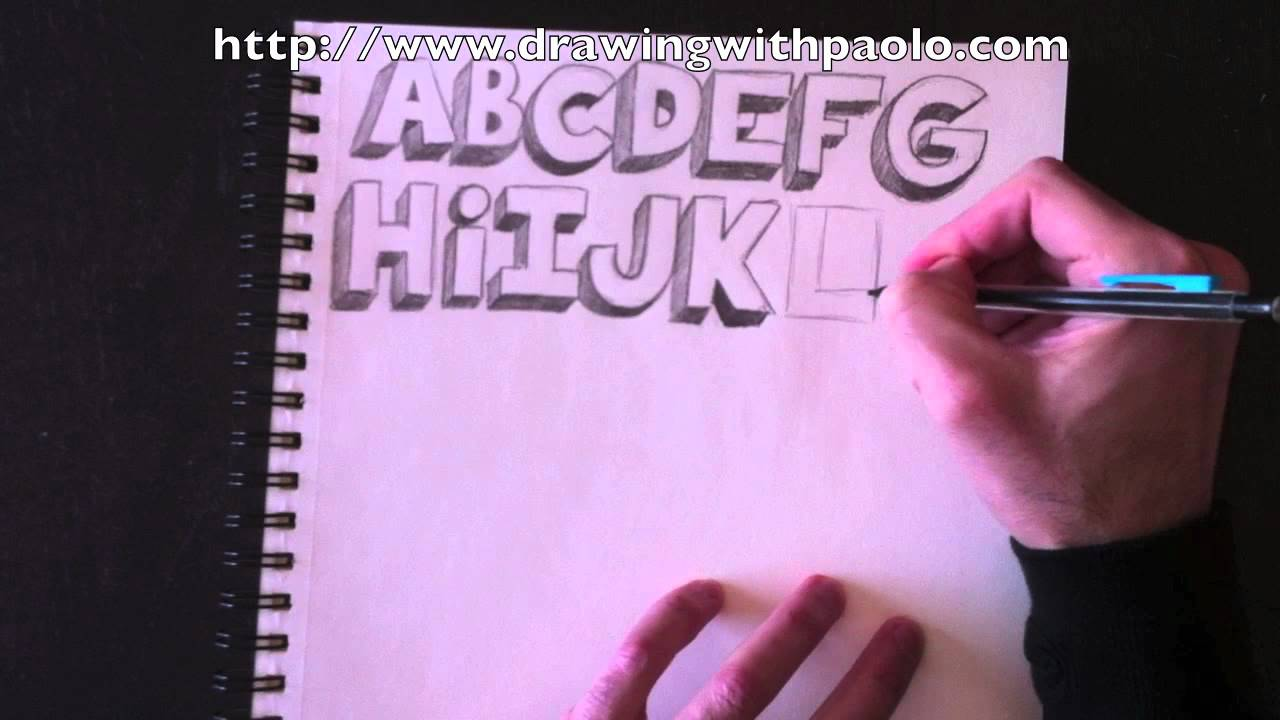 drawing the alphabet in 3d with paolo morrone youtube. Black Bedroom Furniture Sets. Home Design Ideas