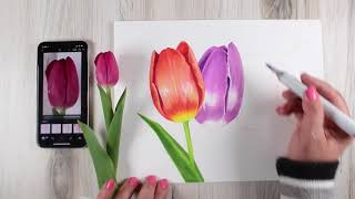 Art Classes Copic Class - Timeless Tulips