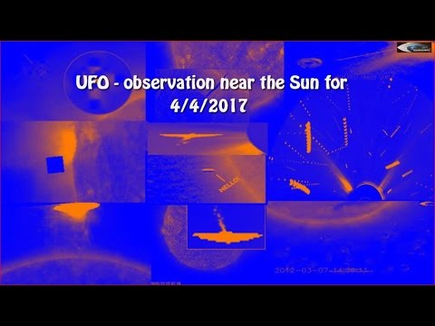 UFO - observation near the Sun for 4/4/2017