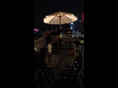 Great band in Asiatique, Riverfront, Bangkok, Thailand