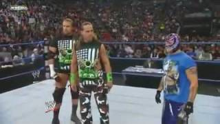 Smackdown 29/01/2010 DX, Rey Mysterio and S.E.S segment