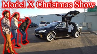 Coworkers FREAK OUT Over Tesla Model X Christmas Show!