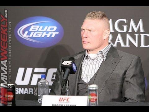 Brock Lesnar at UFC 141 Press Conference
