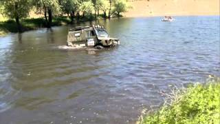 Russian Super Car in deep water!