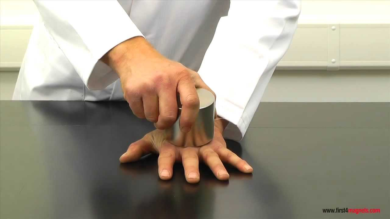 superstrong neodymium magnets crushing a mans hand youtube