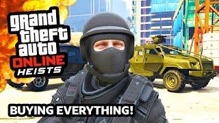 GTA 5 Heists Online DLC Update SPENDING SPREE!!! $5,000,000+ on GTA 5 Heists! (GTA 5 PS4 Gameplay)