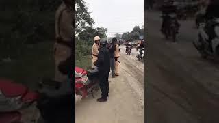 CSGT Điện Biên gặp 2 thánh nát