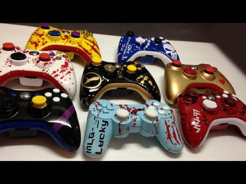 Custom Painted XBOX 360 & PS3 Controllers! - 8 Custom Orders - Acidic Controllers