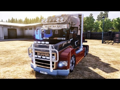 Euro Truck Simulator 2 SCANIA&BUS TRAILER MOD(DOWNLOAD)