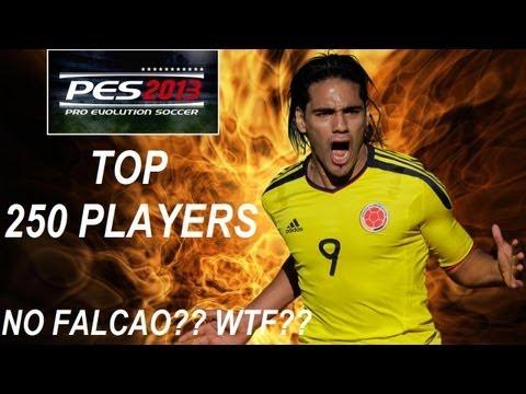 PES 2013 | Top 250 Players | Donde esta FALCAO???