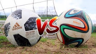 TELSTAR 18 VS BRAZUCA TEST | 2018 WORLD CUP BALL VS 2014 WORLD CUP BALL