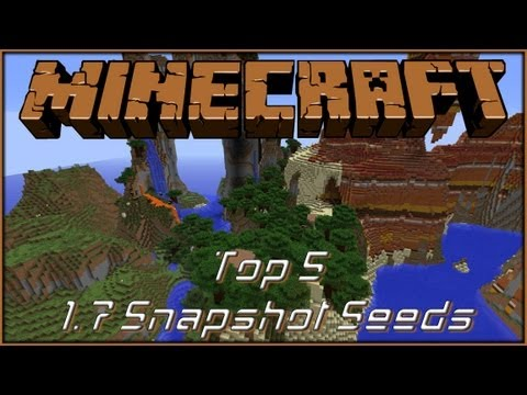 Minecraft Seed Spotlight (works in 1.7.2) - My Top 5 1.7 Snapshot Seeds