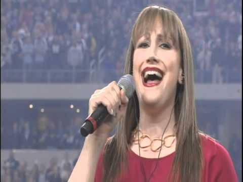 Natalie Weiss singing the National Anthem at a Cowboys/Eagles Game (Professional Footage)