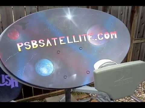 3 SPACE Spray Painted DirecTV Slimline HD Satellite Dish +