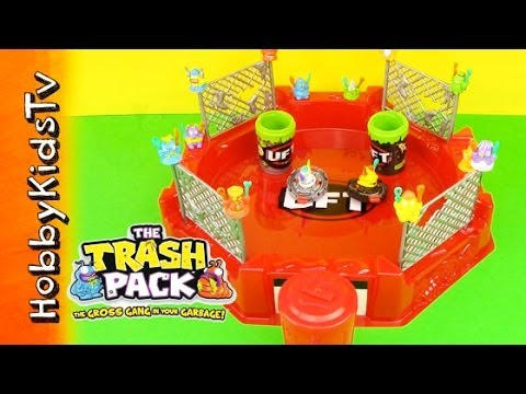 TRASH PACK Battle Arena -Spin Launchers- Toy Open. Play and Review - Garbage Fighting - Spinning