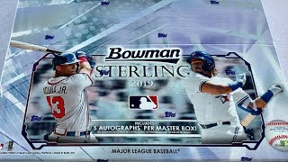 NEW RELEASE!  2019 BOWMAN STERLING BASEBALL CARD BOX OPENING!