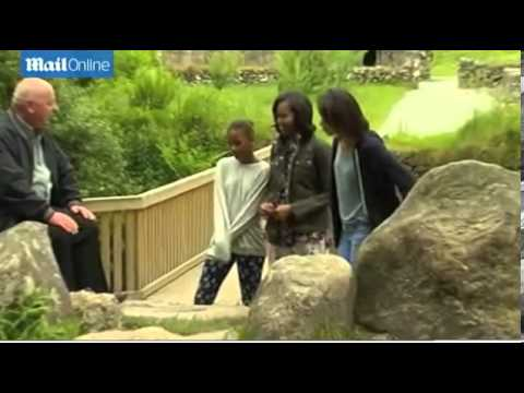 Michelle and girls go casual on wicklow mountains visit