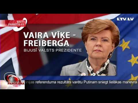 Vaira Vīķe-Freiberga par Brexit