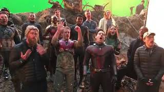Avengers end game behind the scenes #avengersendgame #thor #captainamerica #ironman #blackwidow