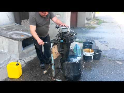 как завести лодочный мотор не на воде