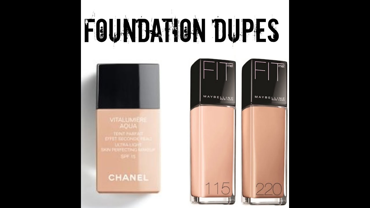 Chanel Foundation Coverage Foundation Dupes | Chanel vs