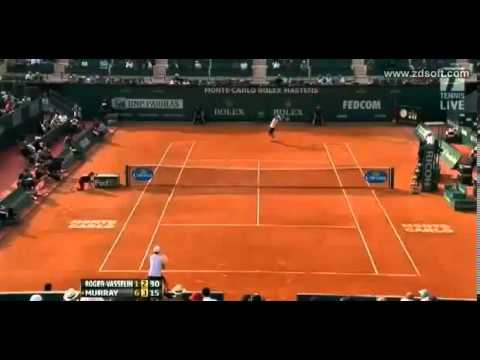 Andy Murray vs. Edouard Roger-Vasselin - ATP Masters Monte-Carlo 2013 - Highlights 17.04.2013