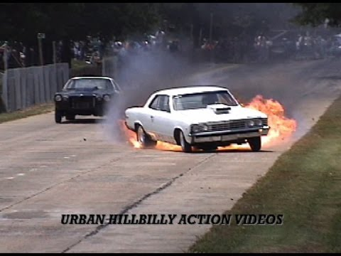 Chevelle Explodes Tranny At Back Woods Track video