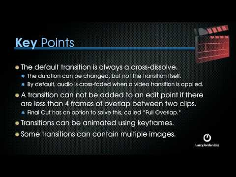 Transitions in Final Cut Pro X - Introduction