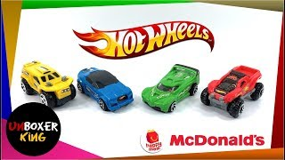 2018 Hot Wheels Challenge Lab 🚕🚓🚗🛺🚙 - McDonald's Happy Meal Complete Set of 4 Toys