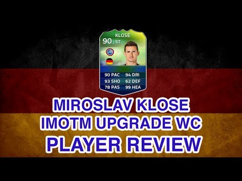 FUT 14 World Cup Record Breaker iMOTM Miroslav Klose Upgrade Player Review FIFA 14 iMOTM Klose